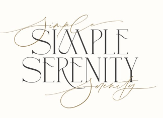 Simple Serenity Font
