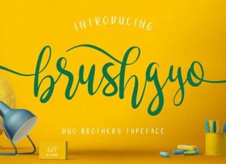 Brushgyo Font