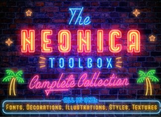 The Neonica Toolbox Font