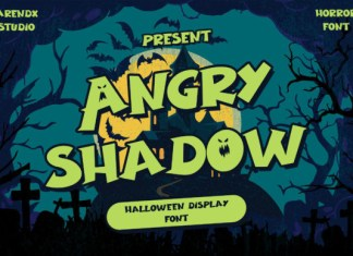 Angry Shadow Font