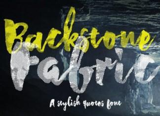 Backstone Fabric Font