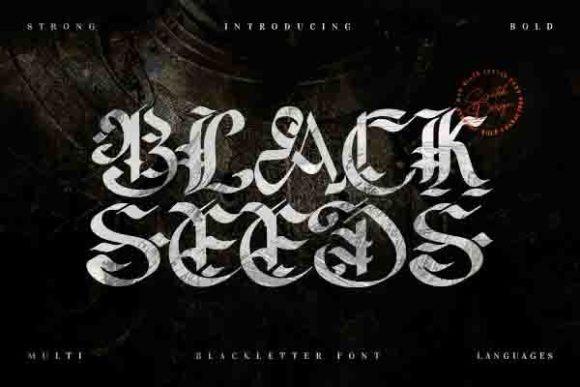 Blackseeds Font