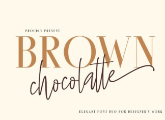 Brown Chocolatte Duo Font