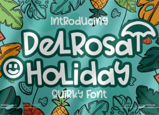 Delrosa Holiday Quirky Font