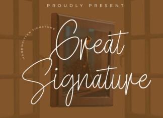 Great Signature Font