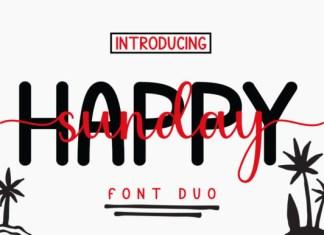 Happy Sunday Font