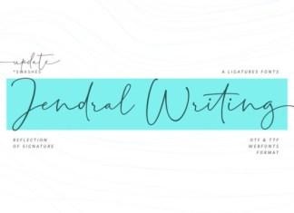 Jendral Writing Font