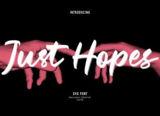 Just Hopes Font