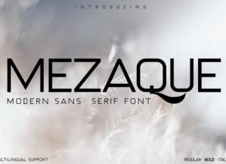 MEZAQUE Font
