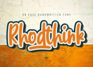 Rhodthink Font