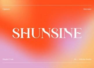 Shunsine Font