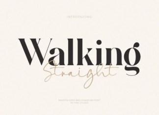 Walking Straight Font