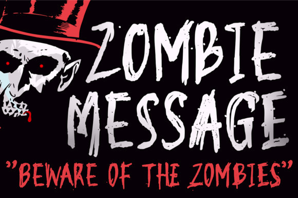 Zombie Message Font