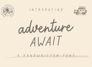 Adventure Await Font