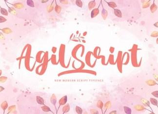 Agil Script Font