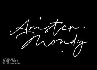 Amster Mondy Font