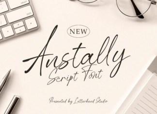 Anstally Script Font