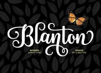 Blanton Script Font