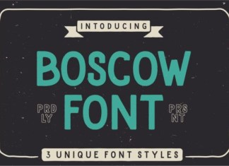 Boscow Font
