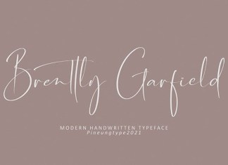Brently Garfield Font