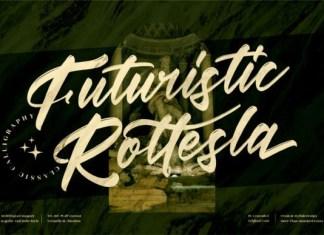 Futuristic Rottesla Font
