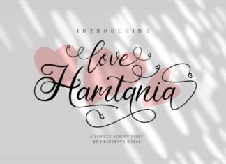 Love Hamtania Font