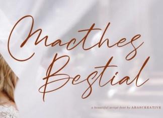 Macthes Bestial Font