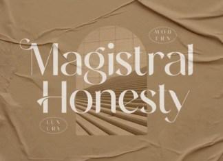 Magistral Honesty Font