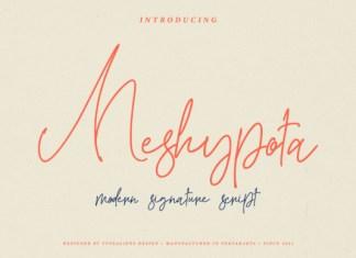 Meshypota Font