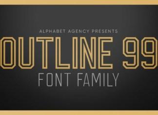 Outline 99 Font