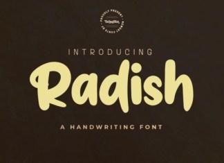 Radish Font