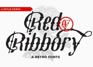 Red Ribbory Font