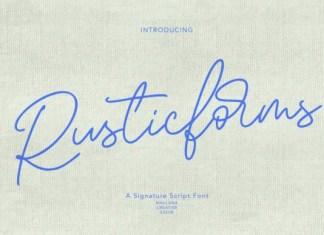 Rusticforms Font