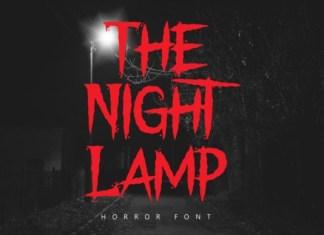 The Night Lamp Font