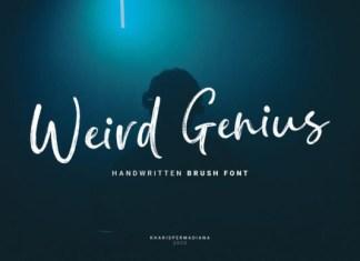 Weird Genius Font