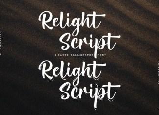 Relight Script Font