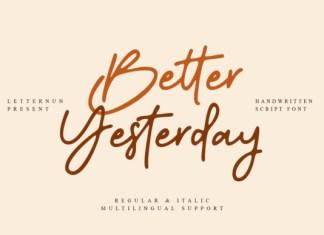 Better Yesterday Font