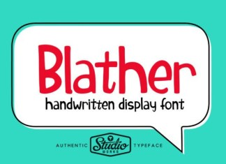Blather Font
