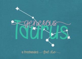 Generous Taurus Duo Font