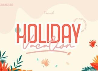 Holiday Vacation Font