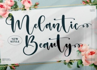 Melantic Beauty Font