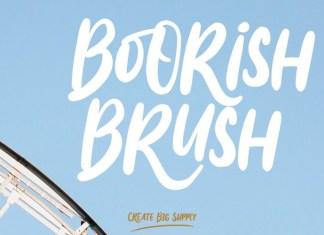 Boorish Brush Font