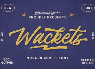 The Wackets Font
