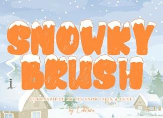 Snowky Brush Font