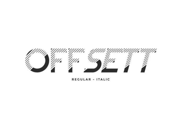 Offsett Font