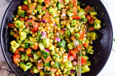 Chickpea Salad in a bowl