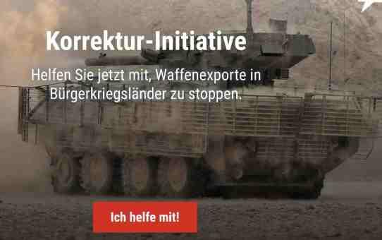 Appel à la résistance contre l'assouplissement de l'ordonnance sur l'exportation des armes