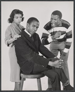 Ruby Dee, Louis Gossett, Jr. and Sidney Poitier (Studio session)