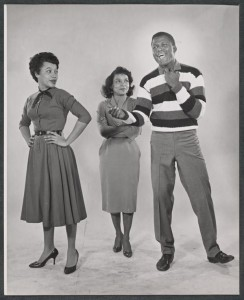 Diana Sands, Ruby Dee and Sidney Poitier