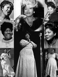 """""""Mahalia Jackson (Oct. 26, 1911 – Jan. 27, 1972) was an American gospel singer. Possessing a powerful contralto voice, she was referred to as """"The Queen of Gospel"""". Jackson became one of the most influential gospel singers in the world and was heralded internationally as a singer & civil rights activist. She was described by en tertainer Harry Belafonte as """"the single most powerful black woman in the United States"""". She recorded 30 albums, and her 45 rpm records included 12 Gold Million-Sellers."""""""